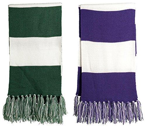 Sport-Tek Favorite Scarfs Set_Forest Green/ White & Purple/
