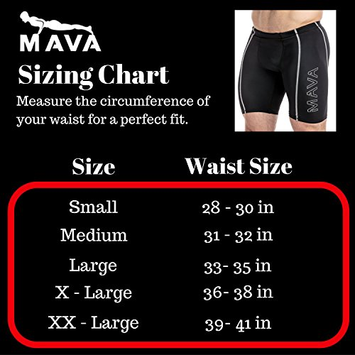 Mava Men's Compression Short Leggings Base Layer Tights for Workouts, Running, Cycling, Sports, Training, Weightlifting All Weather Shorts Capri