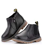 CENCIRILY Toddler Little Kid Boots Waterproof Girls Boys Hiking Outdoor Ankle Boot Shoes Lace-Up Rain Snow Martin Boot (Baby/Toddler)