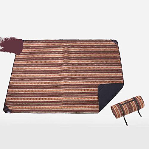 D&L Outdoor Canvas Picknickdecke,Wasserdicht Sanddichte Folding Wärmegedämmt Picknick-matte Mit Tragegriff Für 6-8 Personen Reisen, Wandern, Camping B