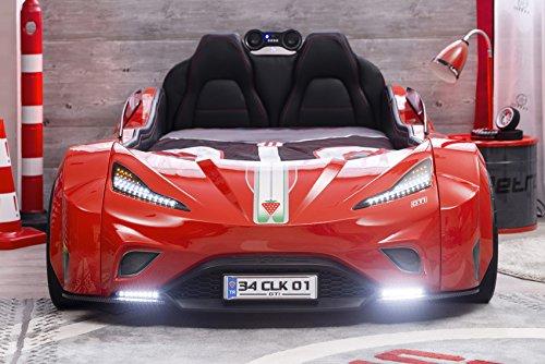 Cilek GTI LED Autobett ROT mit Lattenrost Sound Fernbedienung von Möbel-Zeit