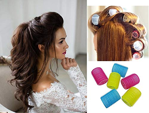 Majik Combo Of Flower Hair Clips Accessories For Women And Hair Styling Rollers For Home And Salon Use Multicolour 40 Gram Pack Of 1 6 Pcs Roller Buy Online In Aruba At