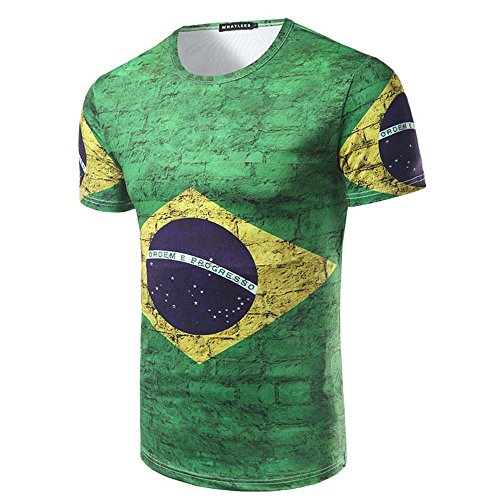 Romantic Fish 2018 Russian World Cup Brazil Fans Commemorative Short Sleeved T - Shirts for Men and Womens