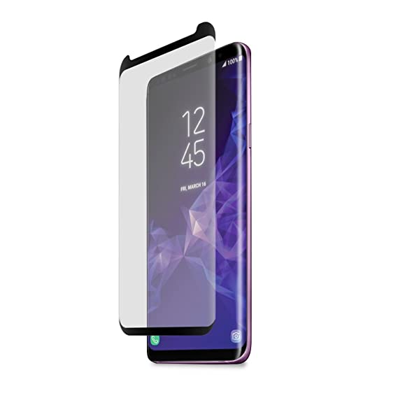 wholesale dealer edd65 d457c PureGear Samsung Galaxy S9 + Plus HD Clear Curved Glass Screen Protector  with Top/Bottom Black Border and Self Alignment Tray, Touch Sensitive, Case  ...