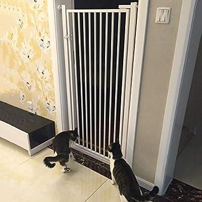 Puertas de bebé Puertas De Seguridad para Mascotas Extra Altas con Puerta para Pasear De Perros