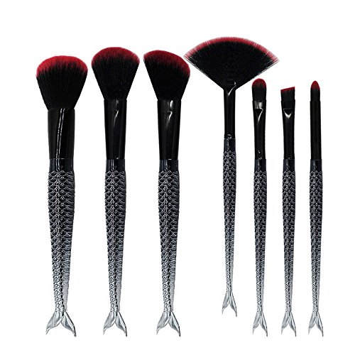 7 Pcs Makeup Brushes Black Gradient Double f Smudge Shading Brushes Fish - Leopard Sasha