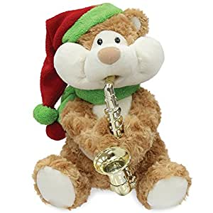 "12"" Christmas Cheeks Animated Plush Teddy Bear Stuffed Animal"