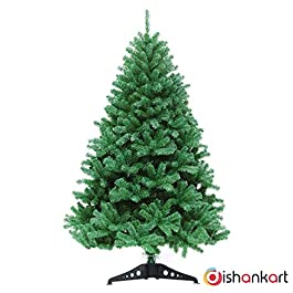 DishanKart Christmas Tree with Plastic Stand for Christmas Home Decor 4 Feet