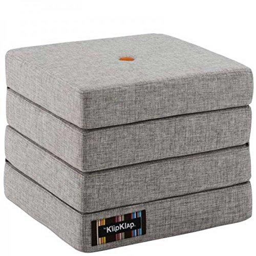by KlipKlap 4 fold multi function madras - Multigrey With Orange Button