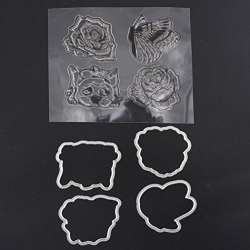 GBSELL 2017 2018 Metal Cutting Dies with Stamp Stencil DIY Scrapbooking Embossing Album Paper Card Craft Christmas (L)