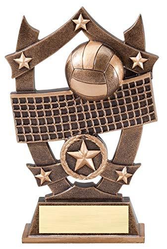 エクスプレスメダル (1-3-5パック) 6.25インチ スポーツ スター バレーボール トロフィー 賞 刻印入り パーソナライズプレート B07H4MZ56B  1