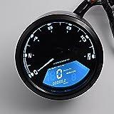 PACEWALKER 52MM/2Inch 12000RPM LCD Digital Tachometer Speedometer Odometer for Motorcycle, Dirt Bike, Boat Marine