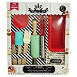 Handstand Kids 17-Piece Junior Baking Set with Recipes for Kids 3 The perfect set for every child that is ready to explore the fun of real baking - the Junior Baker Set from Handstand Kids Complete 17-piece set includes everything needed to bake an assortment of tasty treats with your children Comes with 1 spatula, 1 pastry brush, 1 mixing spoon, 1 silicone loaf pan, 6 silicone baking cups, 1 rolling pin, 1 whisk, and 5 recipe cards