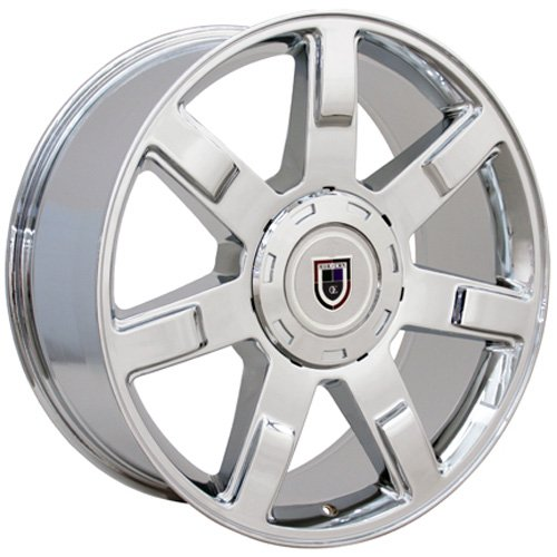 22x9 Wheel Fit GM Trucks & SUVs - Cadillac Escalade Style Chrome Rim, Hollander 5309