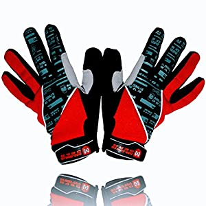 EliteX MTB Cycling Gloves for Men - Full Finger Gel Padded Shockproof Touch Screen Bike Gloves for Mountain Bike Cycling (Red, X-Large)