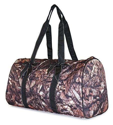 NGIL Quilted Travel Duffel Bag, Camo Print (Brown)