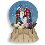 """Pop-Up 3D Nativity Greeting Card with Display - Perfect for Display, Gifts, Greetings - 6"""""""