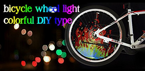 Bicycle Tire Spoke Light DIY Programmable LED Wheel Flash Light Lamp Waterproof For 26 inch Bike Wheel by Top of top store (Image #5)