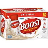 Boost Original Complete Nutritional Drink, Vanilla Delight, 8 fl oz Bottle,12 Count (Pack of 5)