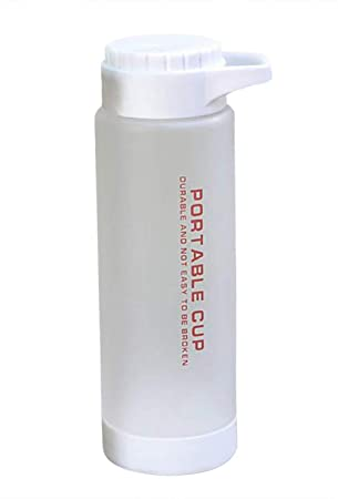 VLUNT Botella de Agua Plastico sin BPA, Botella de Agua Reutilizable para Deportiva, Oficina
