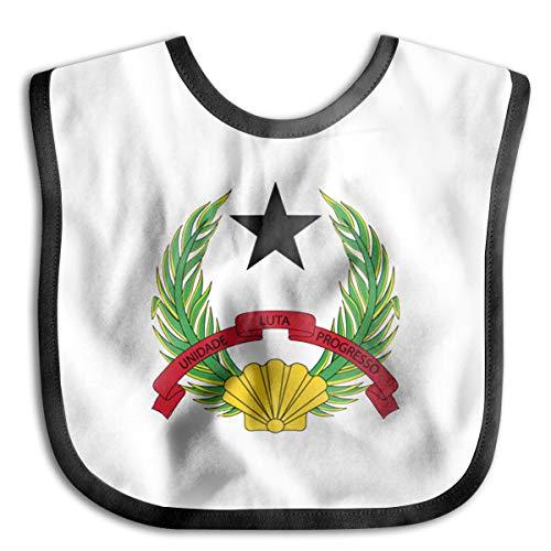 Guinea-bissau Star Leaves Badge Flag Baby Bib Toddler Bib Smock Washable Stain And Odor Resistant Unisex