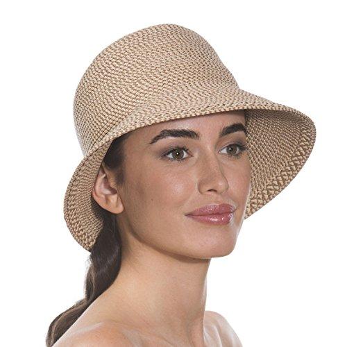 Eric Javits Luxury Fashion Designer Women's Headwear Hat - Squishee Bucket - Peanut by Eric Javits