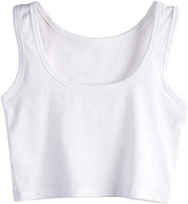 SUNDAY ROSE - Camiseta sin mangas de algodón para mujer: Amazon.es: Ropa y accesorios