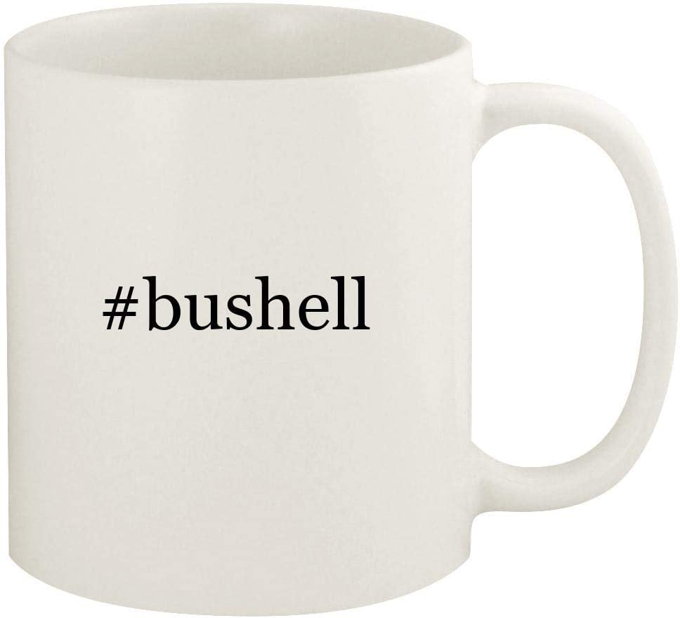#bushell - 11oz Hashtag Ceramic White Coffee Mug Cup, White