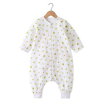 CHENYU - Saco de Dormir para bebés de algodón con Mangas extraíbles para Dormir de bebé