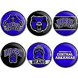 WinCraft Central Arkansas Bears Official NCAA Metal Button Badge Pin Set 6 Pack 093257