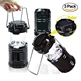 EACHPOLE |3-Pack| Outdoor Camping LED Lantern with Solar...