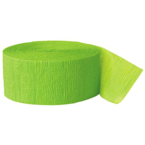 Crepe Paper Streamers, 250 Feet, Lime Green (Streamers Unique compare prices)