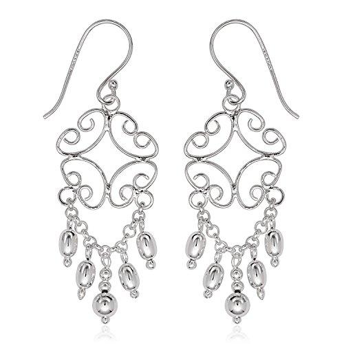 Sterling Silver Chandelier-style Dangle Earrings