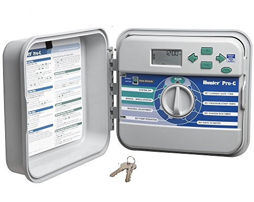 6 Panel Display System - Hunter Sprinkler PCC1200 PCC 12-Station Outdoor Irrigation Controller
