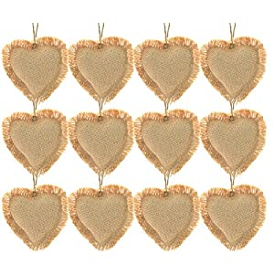 Firefly Craft Rustic Burlap Ornaments 3