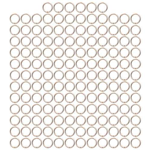 BIKICOCO 1.2CM Metal O-Ring Buckle Connector Round Loops Non Welded for Bags Webbing Purse and Belt Straps, Silver, Pack of 150