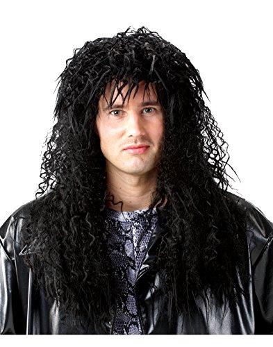 Costume Culture 80's Unisex Headbanger Wig, Black, One Size (80's Unisex Wig)