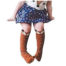 Blackobe Fox Pattern Unisex-baby Knee High Socks Tube Socks For Kids Age 0-6 Years