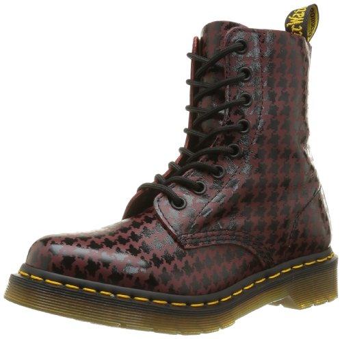 Dr. Martens Womens Pina Boots Noir / Rouge