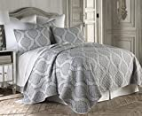 Levtex Home Hemingway Quilt Set, Full/Queen, Grey