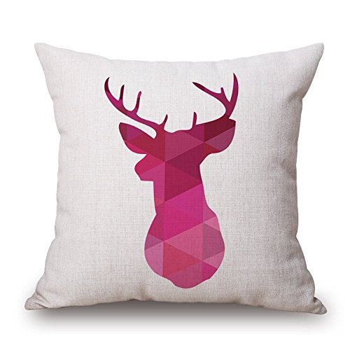 Wedge Corner Slipcover - Deer Pillowcover 16 X 16 Inches / 40 By 40 Cm Gift Or Decor For Gril Friend,bar Seat,couples,chair,bench,seat - Both Sides