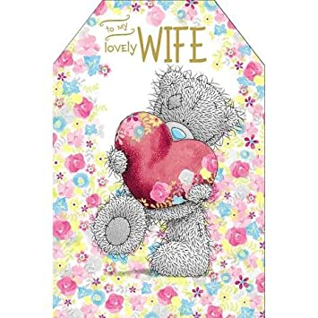 "/'On Our Anniversary/' Large Me to You Anniversary Card 9/""x6/"" Tatty Bear"