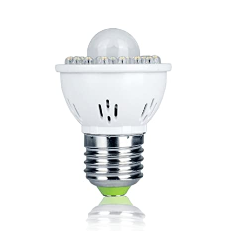 Pack de 1 E27 2 W PIR sensor de movimiento foco LED bombillas luz blanca cálida
