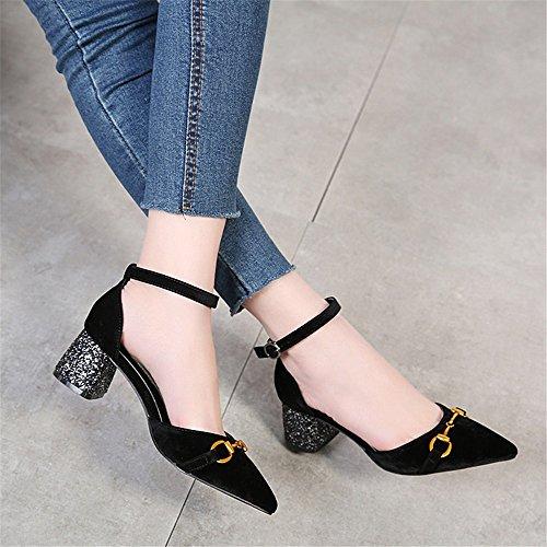 37b9ac0b7 70% OFF WHL Shoes Zapatos De Tacón Alto Sandalias Y Elegante Satén De Tacón  Puntiagudo