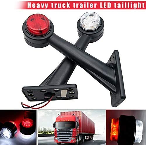 Starmood 2Pcs 12V LED Trailer Truck Side Marker Lights Outline Stalk Lamp 20CM