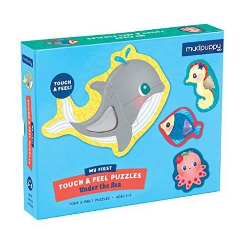Sea Animals Floor Puzzle (Mudpuppy Under The Sea Touch & Feel Puzzle (12 Piece))