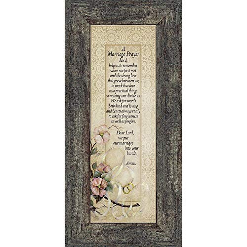 Marriage Prayer, Christian Marriage Gift, Frame Wedding Gift, 6x12 7757BW ()