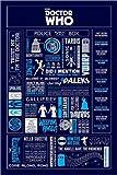 Poster Doctor Who - Infografik - preiswertes Plakat, XXL Wandposter