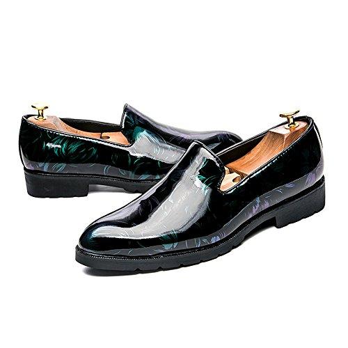 Ville de SEVENZAI à Chaussures pour Homme Lacets Green PwEqaEzA1