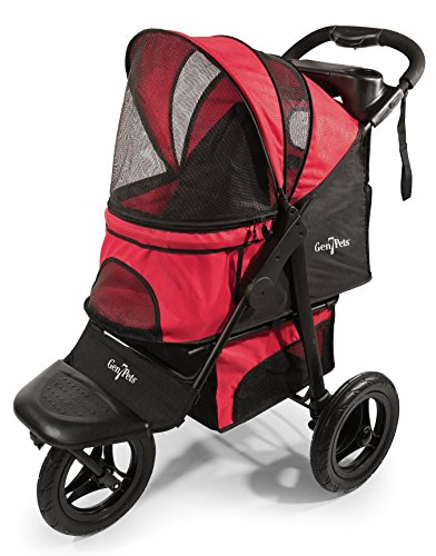 Gen7Pets G7 Jogger Pet Stroller for Dogs or Cats Up to 75 lb, Pathfinder Red